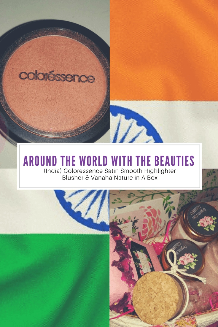 Around The World With The Beauties! - (India) Coloressence Satin Smooth Highlighter Blusher & Vanaha Nature in A Box