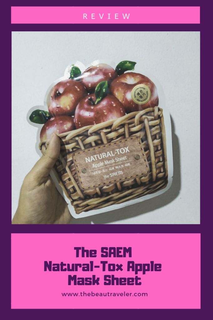 Review: The SAEM Natural-Tox Apple Mask Sheet - The BeauTraveler