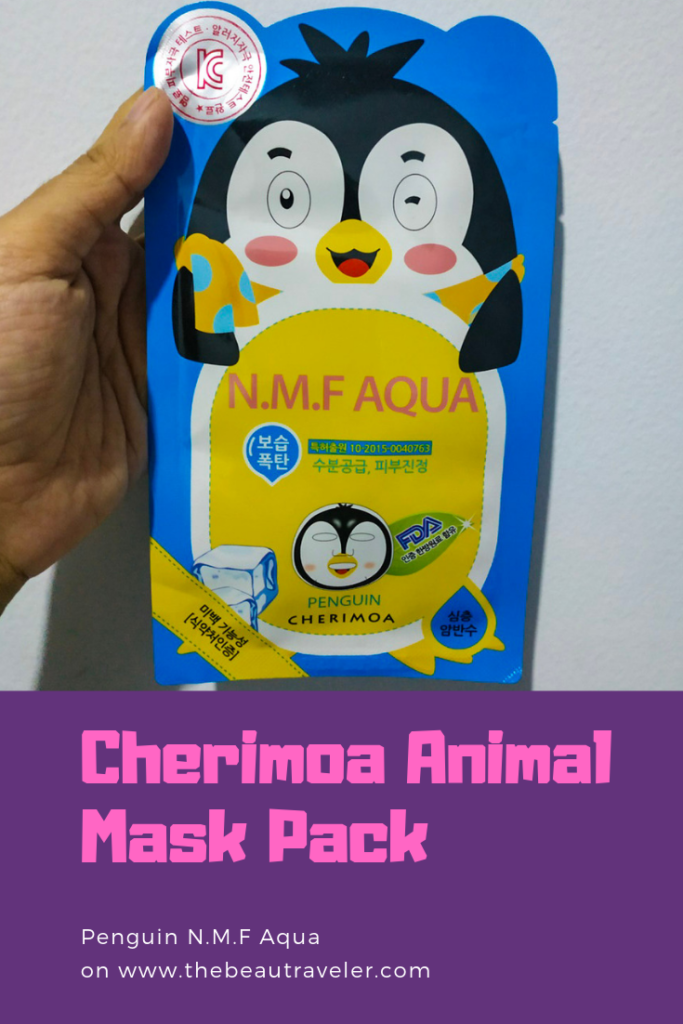 The Sheet Mask Series That I Honestly Despise: Cherimoa Animal Mask Pack (Penguin N.M.F Aqua) - The BeauTraveler