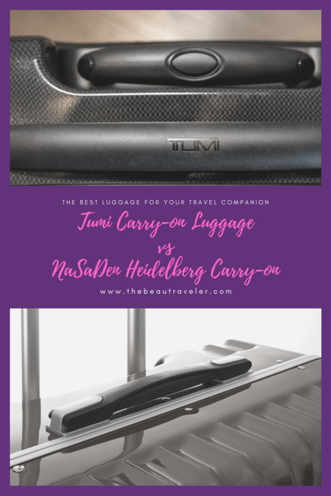 The Best Luggage for Your Travel Companion: Tumi Lattitude International Hardside Carry-on Luggage VS NaSaDen Heidelberg Carry-on - The BeauTraveler