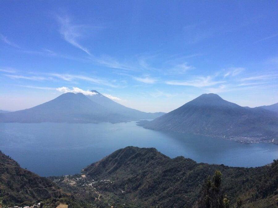 Lake Atitlan Volcanoes, Guatemala.