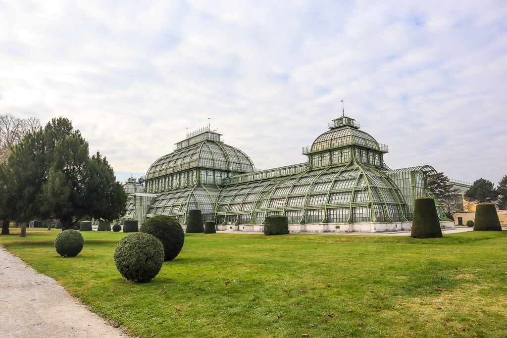 Palm House in the Schoenbrunn Palace Complex.