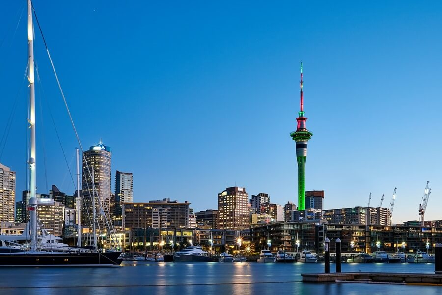 the city view in Auckland