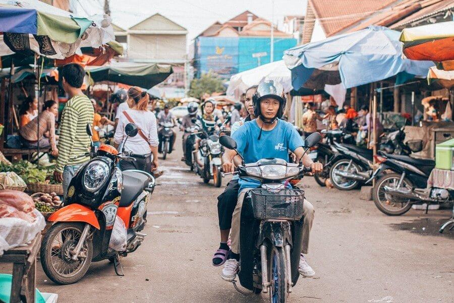 Wet market in Sihanoukville, Cambodia.
