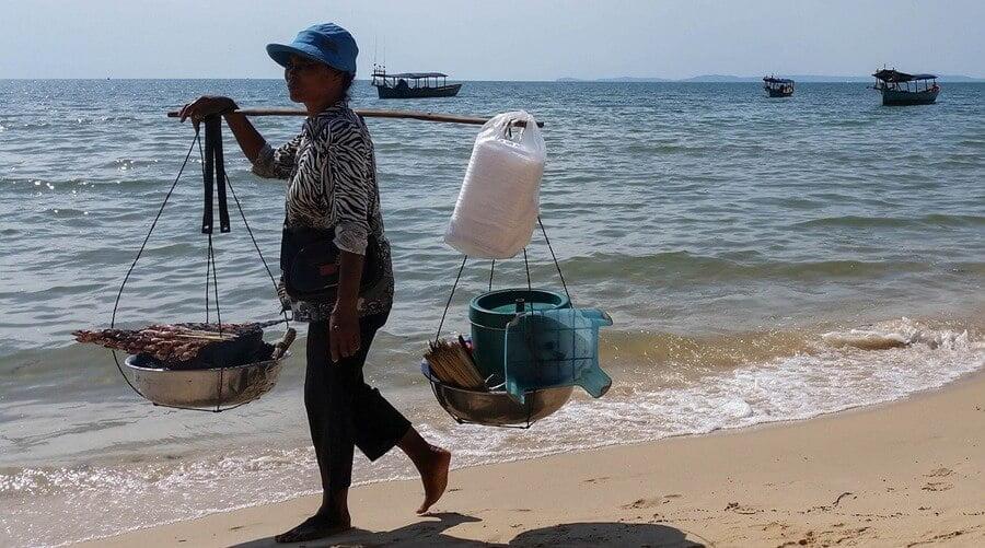 Sihanoukville beach.