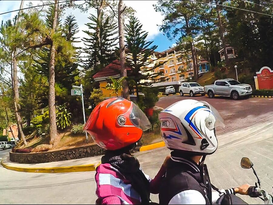 Explore Baguio City with a motorcycle.